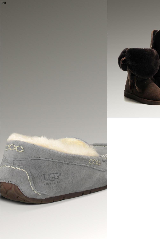 ugg boots grau mit reißverschluss