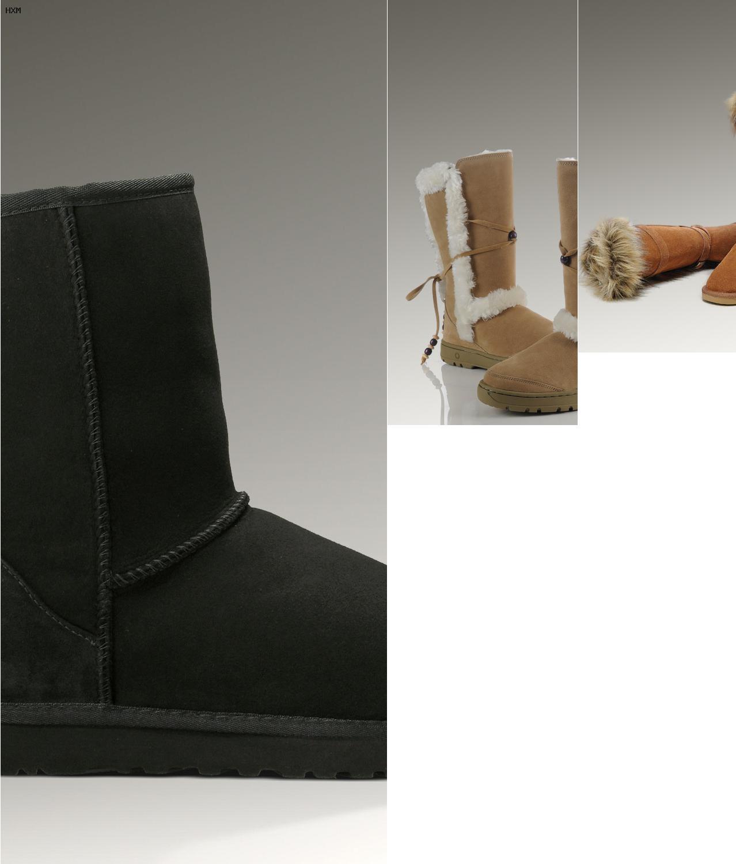ugg boots schwarz mit kette
